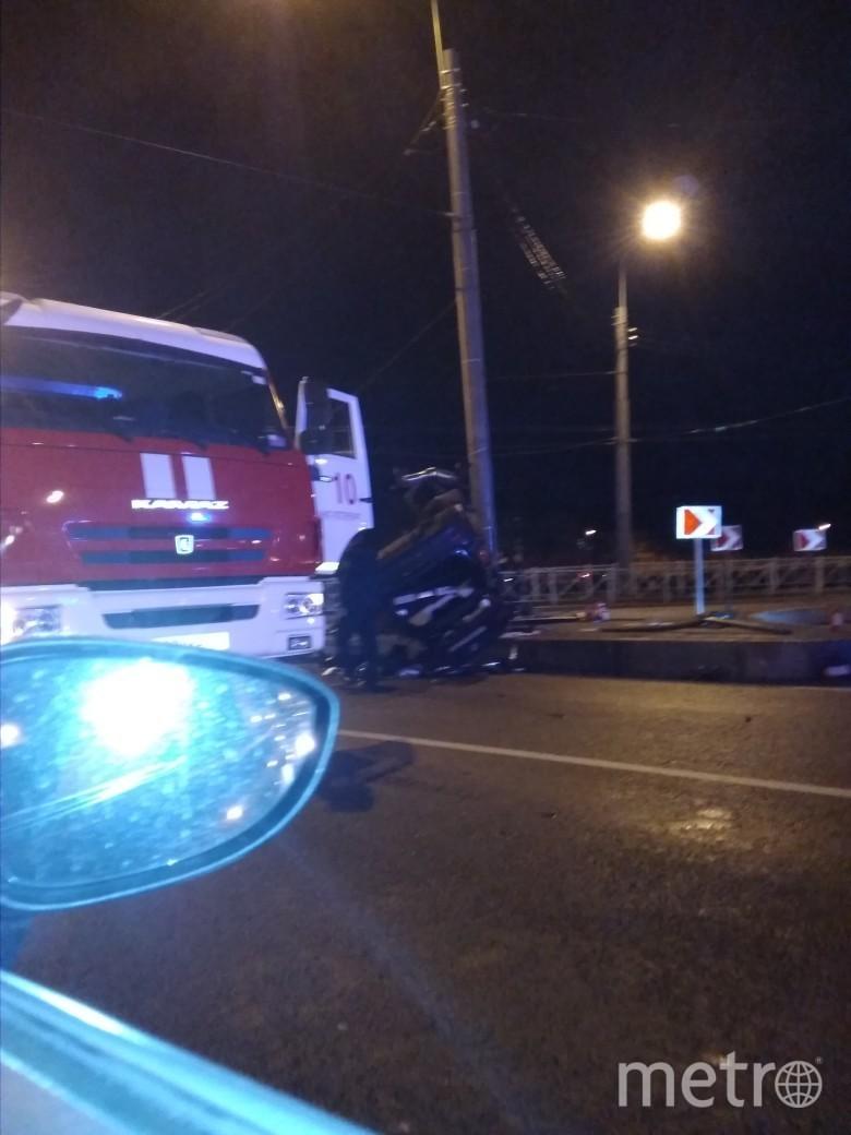 Фото с места аварии на мосту Бетанкура. Фото https://vk.com/spb_today?w=wall-68471405_9808498, vk.com