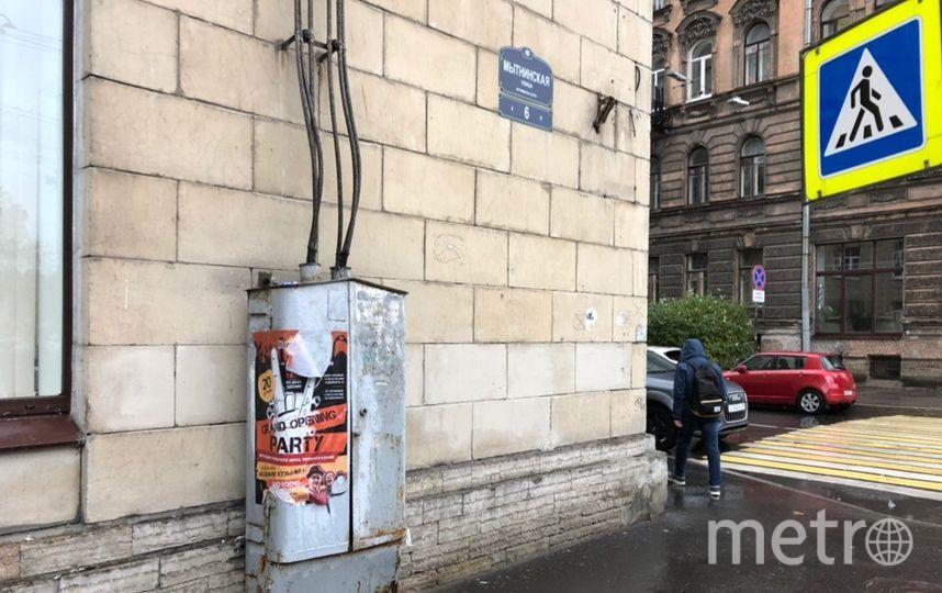 В Петербурге активисты раскрасили электрический шкаф на Мытнинской. Фото mytndvor, vk.com