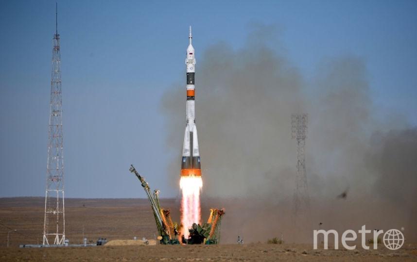 "Старт ракеты-носителя ""Союз МС-10"". Фото РИА Новости"