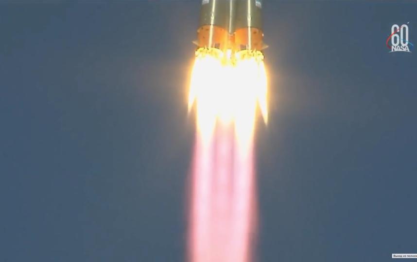 Старт ракеты 11 октября. Фото Скриншот видео YouTube / NASA, Скриншот Youtube