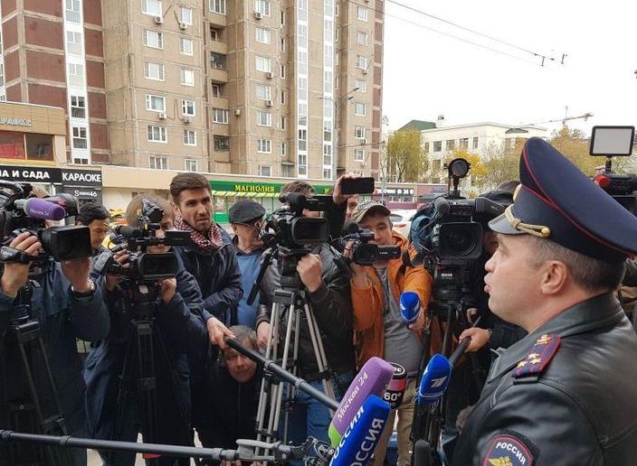 Московский главк перед приездом Кокорина и Мамаева. Фото скриншот видео