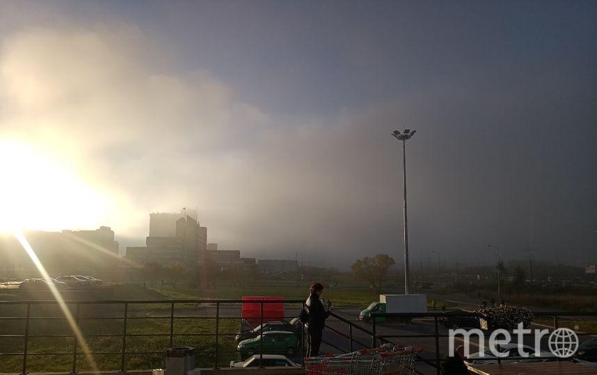 Туман в Петербурге 11 октября. Фото Денис Кузнецов | vk.com/spb_today., vk.com