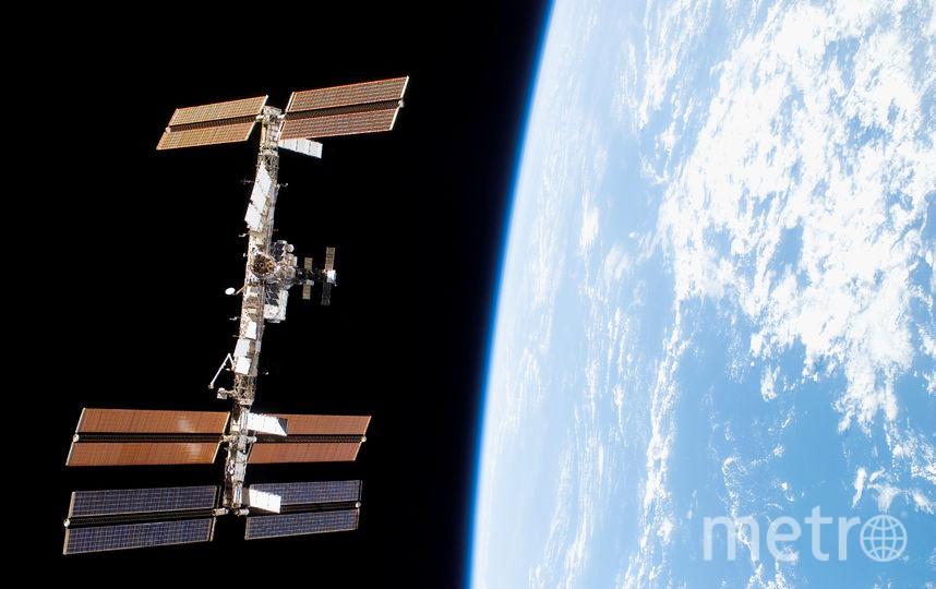 Вид на МКС с шаттла Дискавери. Фото NASA., Предоставлено организаторами