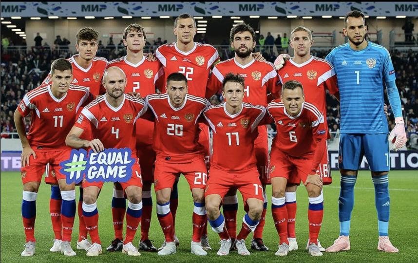 Сборная России перед матчем со Швецией. Фото Instagram @teamrussia