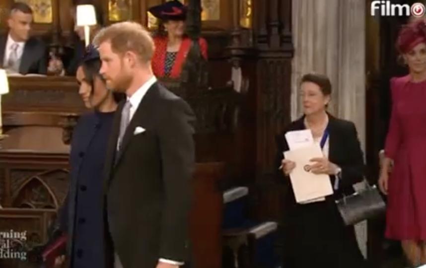 Меган Маркл и принц Гарри. Фото скриншот видео трансляции