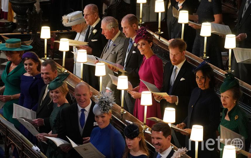 Королевская семья на свадьбе принцессы Евгении. Фото Getty