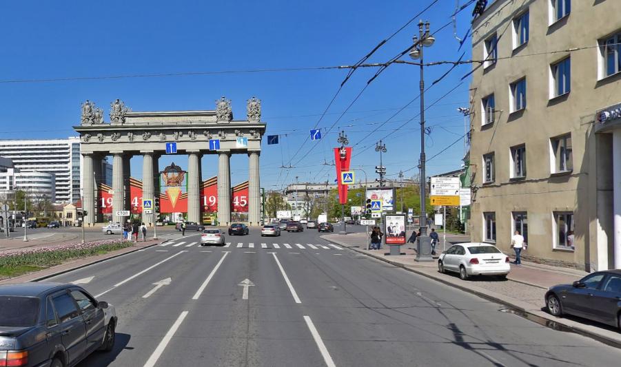 Московские триумфальные ворота. Фото скриншот Яндекс.Панорамы.