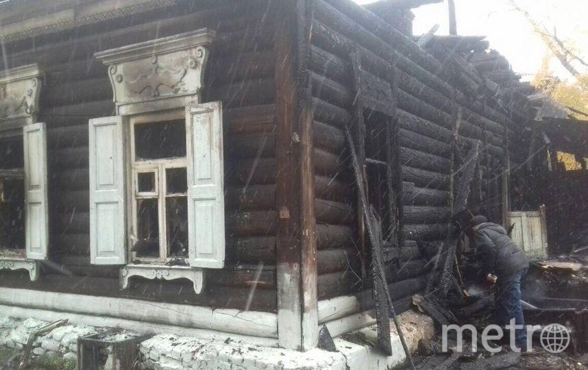 Дом после пожара. Фото предоставила Светлана Пежемская