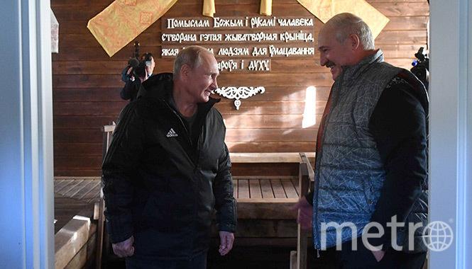 Александр Лукашенко и Владимир Путин. Фото http://president.gov.by
