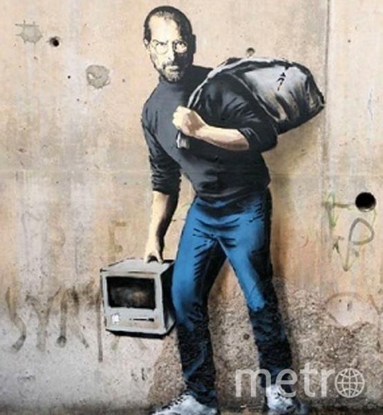 """Проекты Бэнкси. Беженец Стив Джобс. Фото предоставлена организаторами, """"Metro"""""""