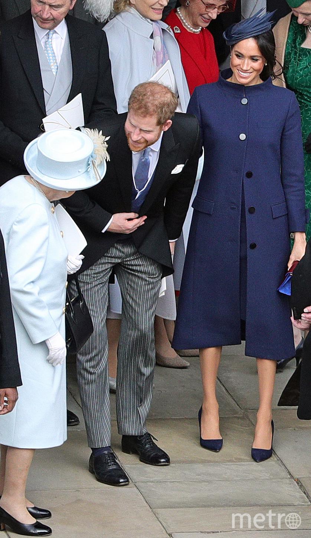 Принц Гарри, Меган Маркл и Елизавета II. Фото AFP