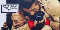 В Турции появилось граффити с Нурмагомедовым