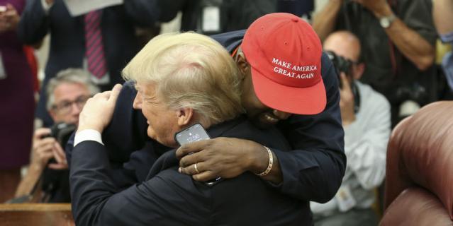 Встреча Канье Уэста и Дональда Трампа.