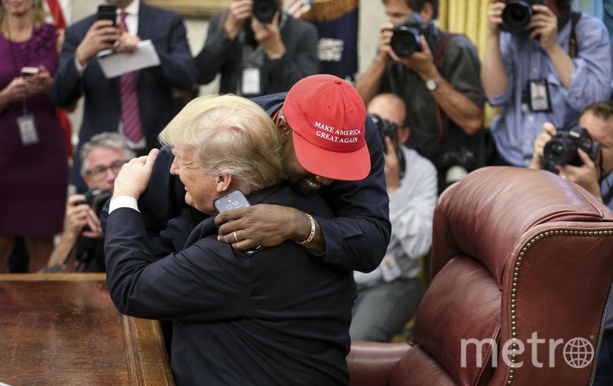 Встреча Канье Уэста и Дональда Трампа. Фото Getty