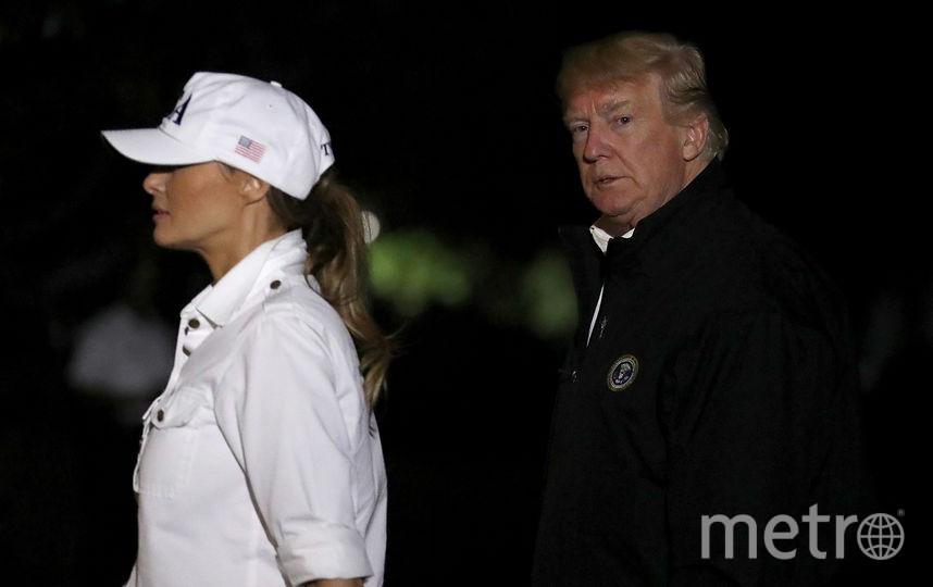 Президентская чета вернулась обратно после поездки уже вечером. Фото Getty