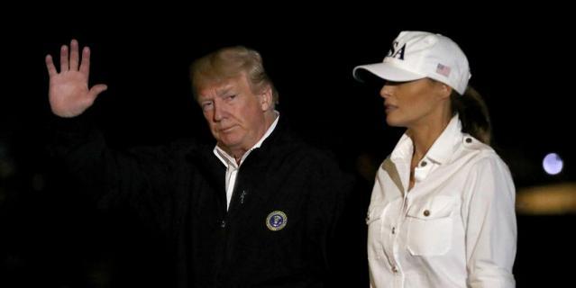 Президентская чета вернулась обратно после поездки уже вечером.