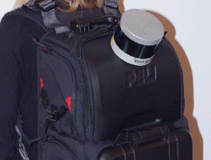 Рюкзак с лидаром.