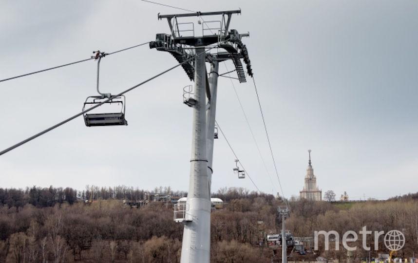 Строительство канатной дороги. Фото РИА Новости