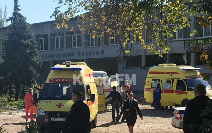 Последствия взрыва в Керчи. Фото Все - скриншот YouTube