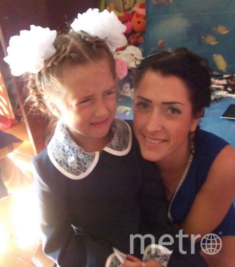 """Кондрова Мария Робертовна, на фото дочь пошла в первый класс.. Фото """"Metro"""""""