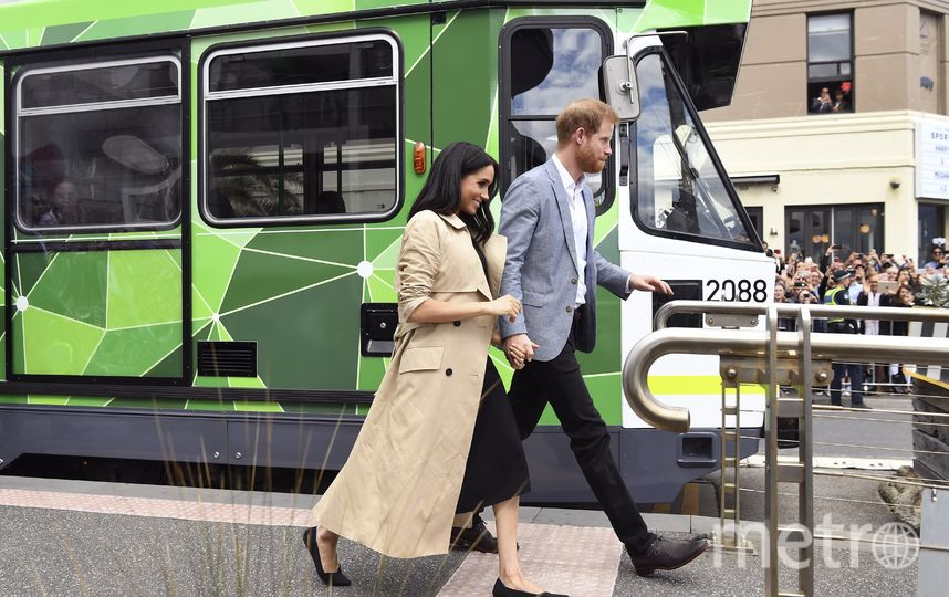 Принц Гарри и Меган Маркл во время визита в Австралию. Фото AFP