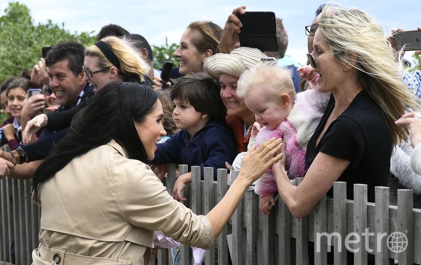 Меган Маркл во время визита в Австралию. Фото AFP