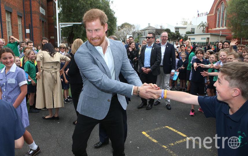 Принц Гарри во время визита в Австралию. Фото AFP