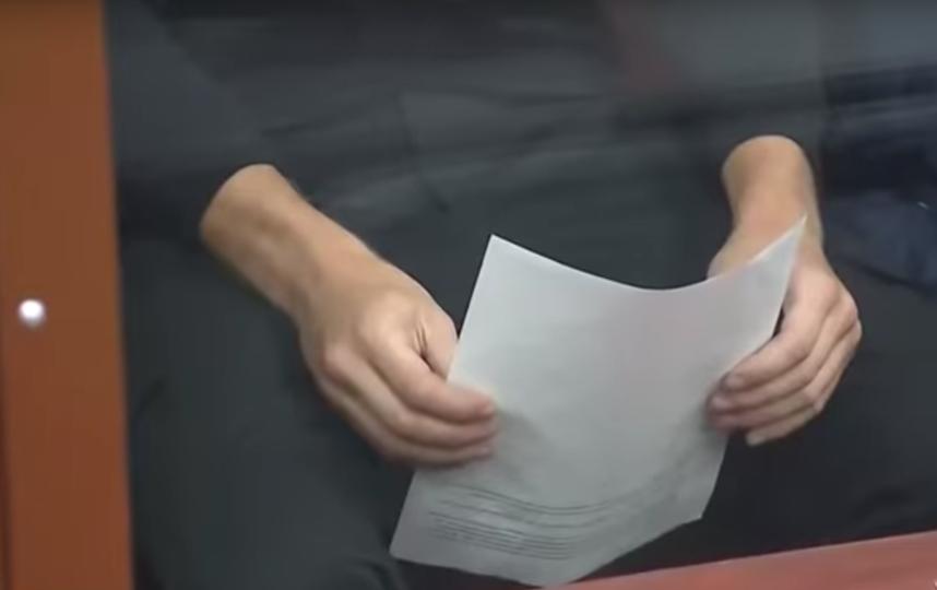 Александр Кокорин в зале суда. Фото Скриншот Youtube