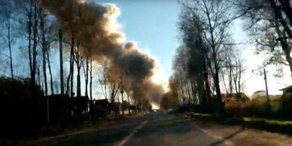 Опубликовано видео с места взрыва в Гатчине