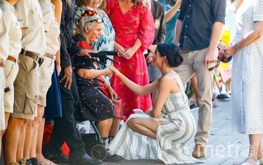Меган Маркл в сарафане. Фото Getty
