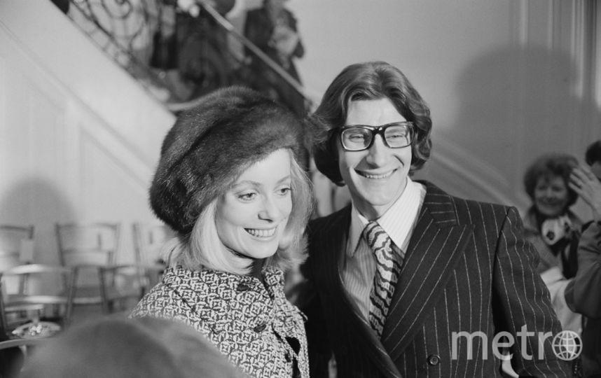 Катрин Денев в 60-е. С Ив Сен-Лораном. Фото Getty