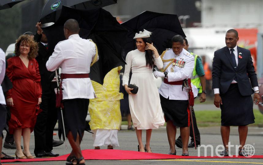 Меган Маркл и принц Гарри прилетели на Фиджи. Фото Getty