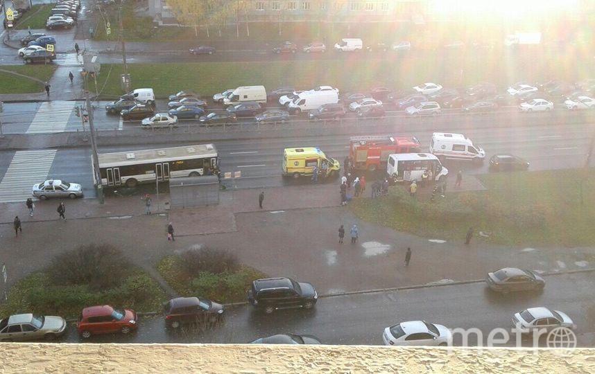 ДТП с маршруткой и автобусом на Индустриальном. Фото vk.com