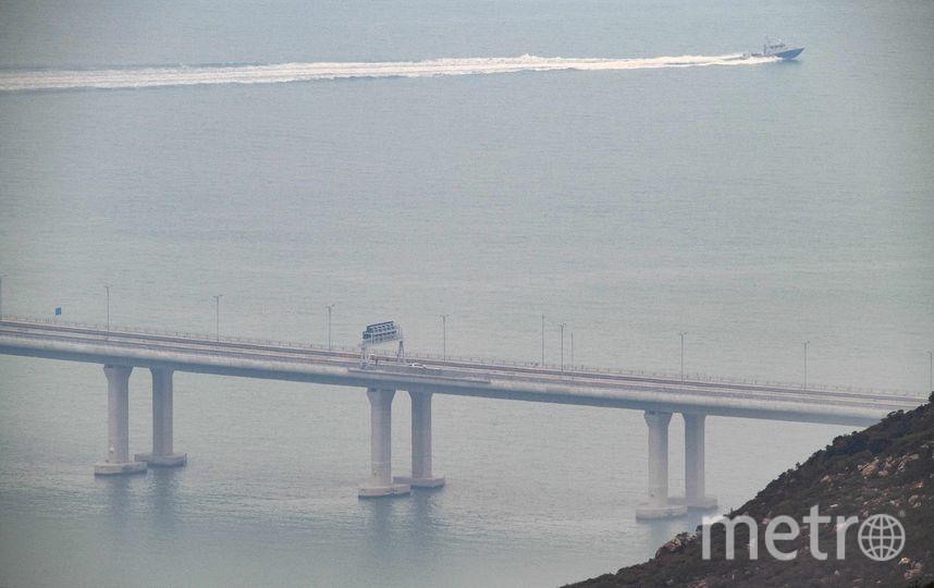 Самый длинный морской мост в мире. Фото AFP