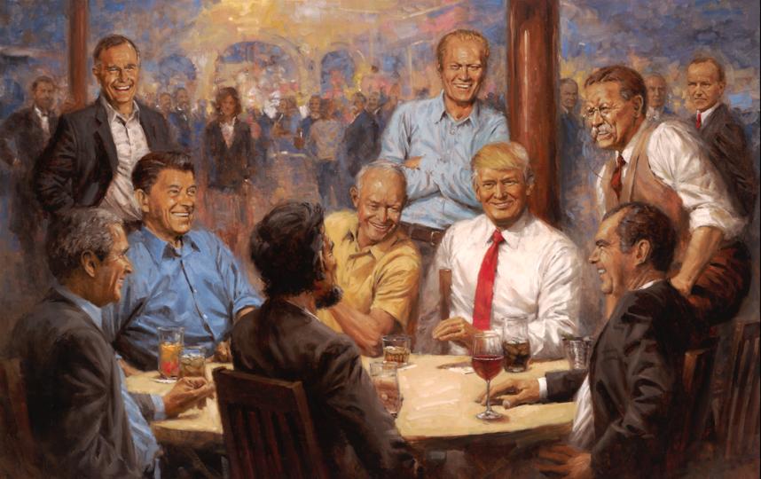 Художник Энди Томас рассказал о своих политических картинах, в том числе о той, что висит в Белом доме у Трампа. Фото Andy Thomas, Предоставлено организаторами