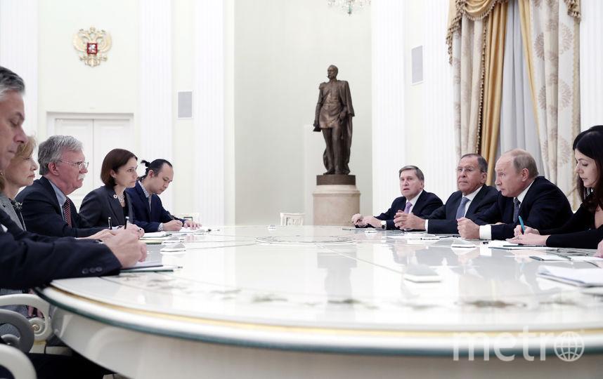 В Москве прошла встреча президента РФ Владимира Путина и Джона Болтона, советника президента США Дональда Трампа. Фото AFP