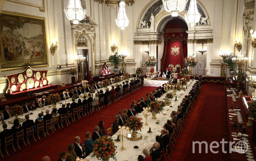 На приёме в честь короля и королевы Нидерландов. Фото Getty