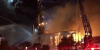 150-летнюю церковь охватило огнём после удара молнии