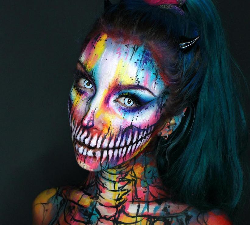 Страшно и откровенно: Instagram завоевали образы к Halloween. Фото скриншот www.instagram.com/ellie35x/