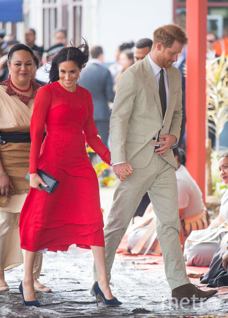 Меган Маркл и принц Гарри в королевстве Тонга. Фото Getty
