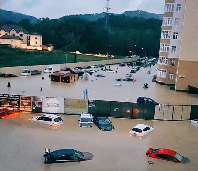 Катастрофа просто: жители Краснодарского края делятся пугающими фото. Фото скриншот www.instagram.com/sochi_online_2.0/