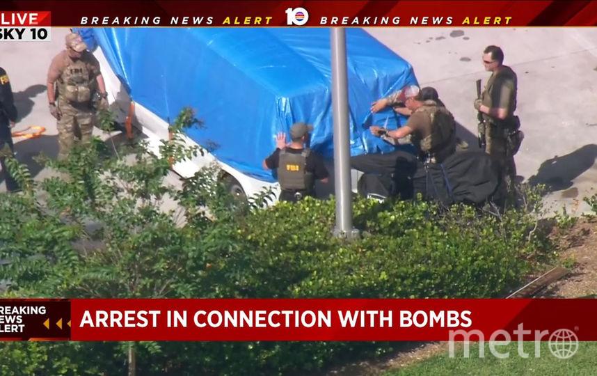 Во Флориде задержан подозреваемый по делу о взрывных посылках. Фото AFP