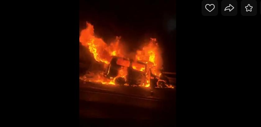 Страшная авария произошла в минувшую субботу, 27 октября, на 36-ом километре ЗСД. Фото скриншот vk.com/spb_today