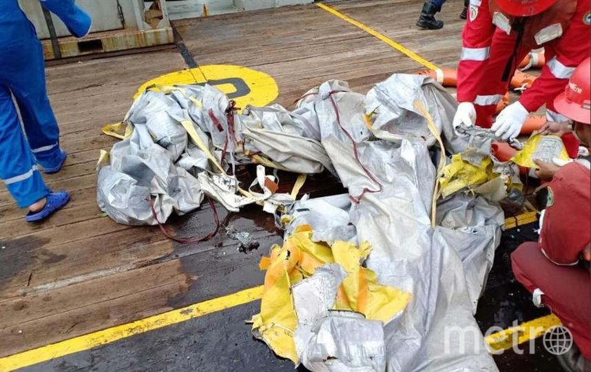 Обломки разбившегося Boeing 737 MAX авиакомпании Lion Air. Фото AFP