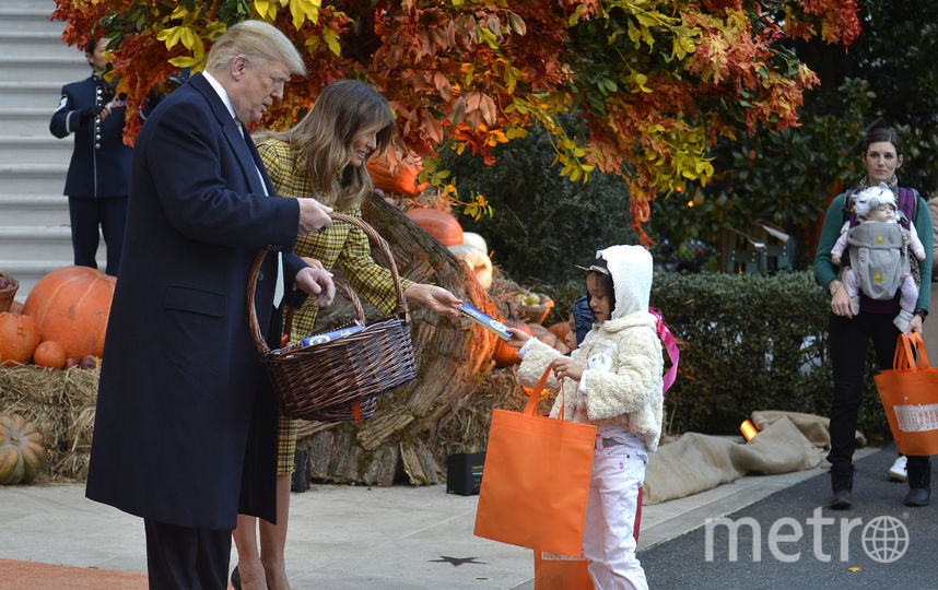 Дональд и Мелания Трамп в Белом доме в Хэллоуин. Фото Getty