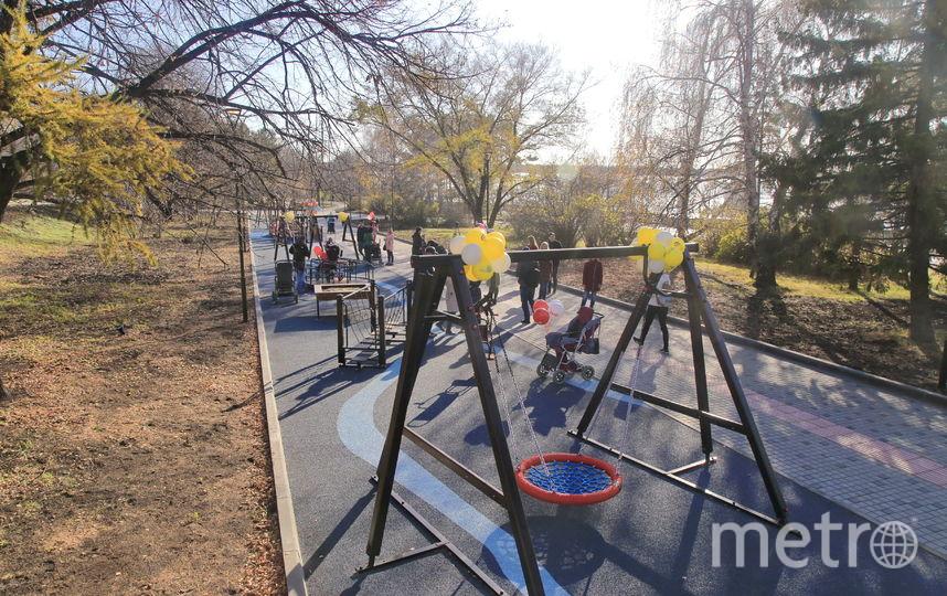 Многофункциональная игровая зона для детей. Фото Пресс-служба мэрии Новосибирска