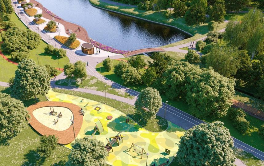 Проект благоустройства парка. Фото mos.ru
