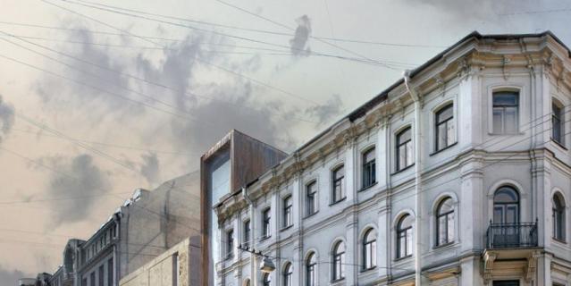 Сквер в Кузнечном. Вместо сквера хотят построить это здание.