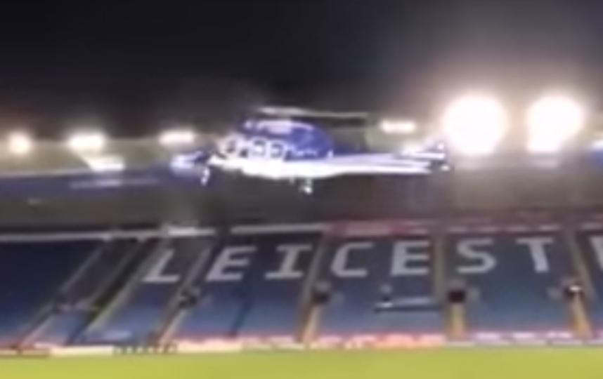 "Крушение вертолёта с владельцем ""Лестер Сити"" на борту. Фото Скриншот, Скриншот Youtube"