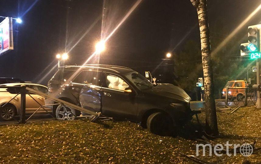 ДТП произошло на проспекте Тореза в Петербурге. Фото vk.com